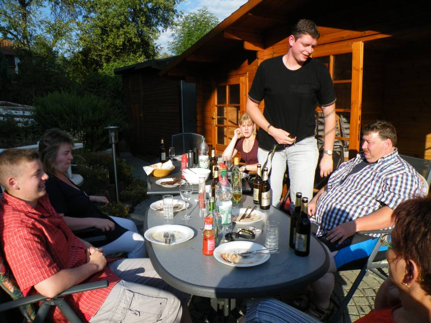 Grillen mit Famile B. aus Bösel und Familie H. aus Berlin