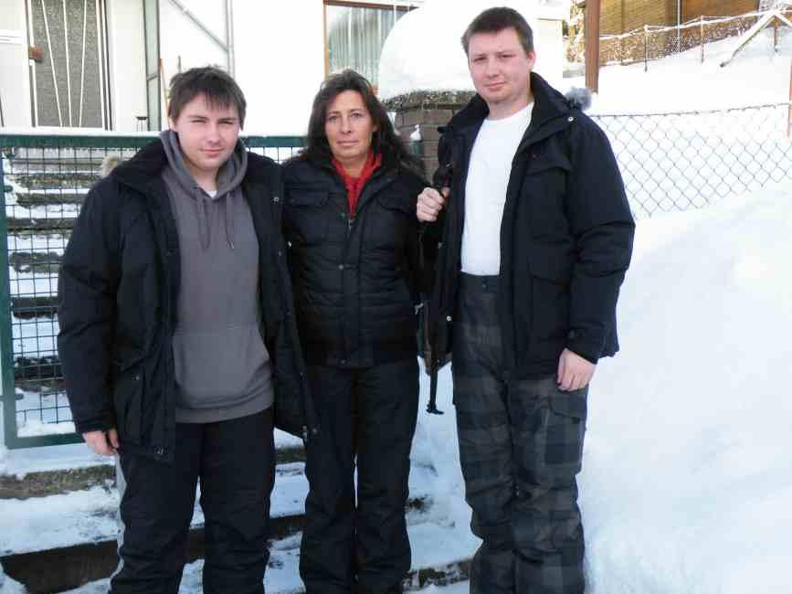 Familie S. aus Erfuth zum Winterurlaub