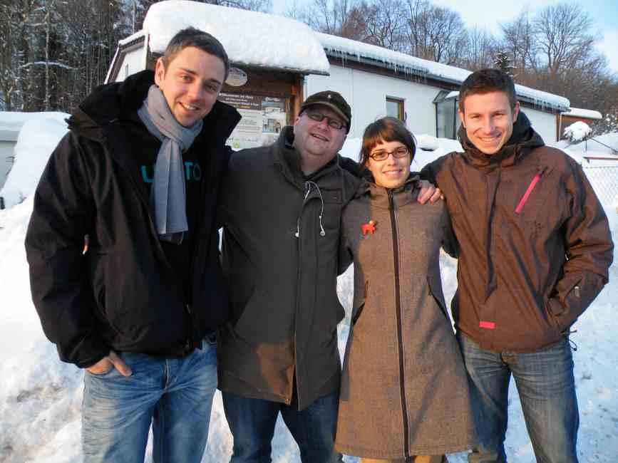Dr. V. aus Hannover mit einer Gruppe zum Brainstorming im Harz