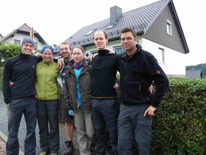 Die Gruppe Anne N. aus Bad Ems auf dem Weg zum Brocken