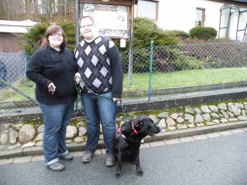 Familie K. mit Hotte aus Wittmund zu Weihnachten 2012