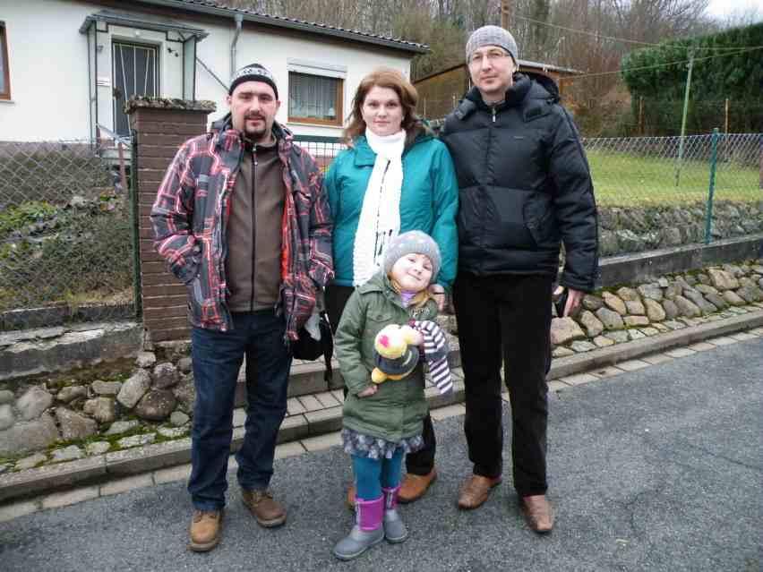Familie K. aus Kasachstan (Қазақстан/Qasaqstan) - jetzt Hamburg - zu Weihnachten 2012