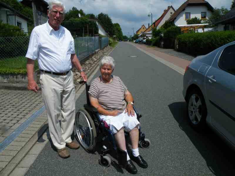 Frau L. und Herr S. aus Quickborn  in vertauter Umgebung