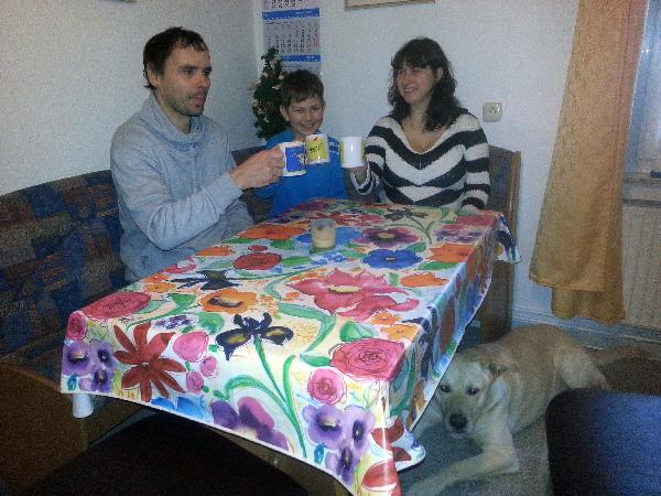 Familie R. aus Gera mit Thyaisen zu Weihnachten 2014
