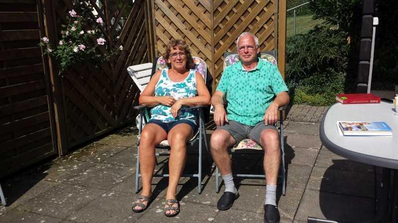 Hanneke und Bob de R.  aus Oosterwolde,  sehr nette Gäste,  deren Urlaubszeit  schon wieder vorbei ist